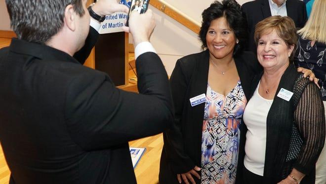 United Way of Martin County President/CEO Carol G. Houwaart-Diez and Alzheimer's Community Care President/CEO Mary M. Barnes.