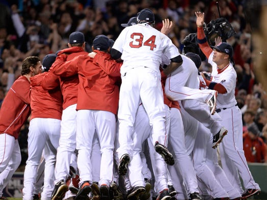 Game 6 -- Red Sox 5, Tigers 2: Boston is headed back to the World Series after finishing off Detroit to win the American League pennant.