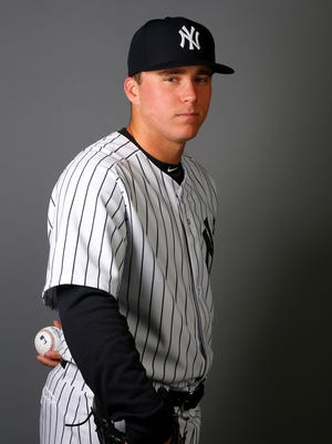 Yankees rookie Jacob Lindgren, shown here in a portrait taken during spring training, had trouble getting into the Yankees' clubhouse.