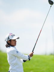 Julieta Granada during round one of the Yokohama Tire LPGA Classic at the Robert Trent Jones Golf Trail in Prattville, Ala., on Thursday May 5, 2016.