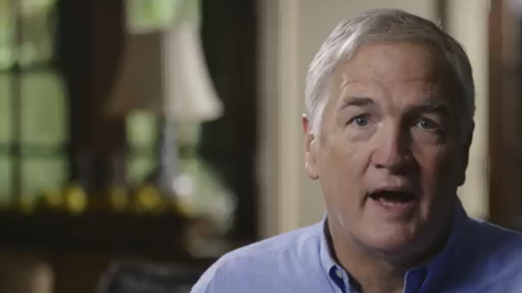In a still from a recent campaign ad, U.S. Sen. Luther