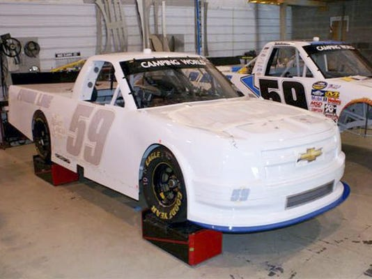 Kyle Martel's NASCAR  2015  Chevrolet CampingWorld   Truck   # 59 is shown here in KMR Race Team's  Shop prior to the Pocono 125 race on Saturday, Aug. 1. Submitted