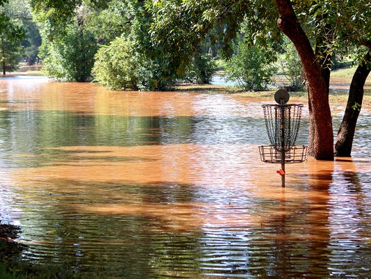 Recent rains flood parts of Lucy Park