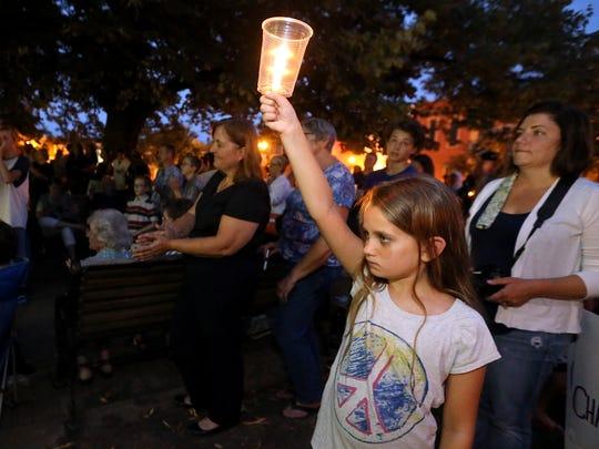 Elaina Nelson, 9, who moved to Murfreesboro from Charlottesville,