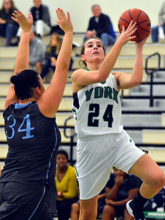 York College vs Wesley College womens' basketball