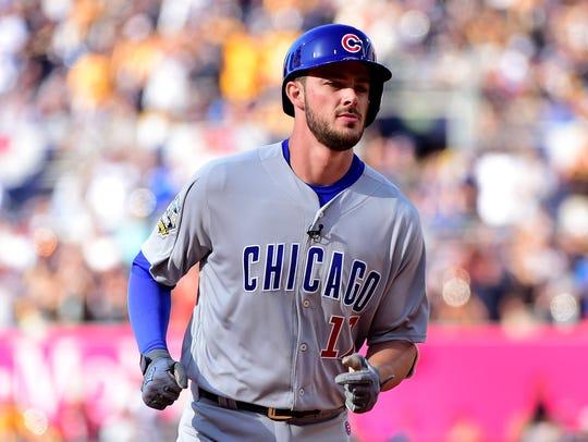 Kris Bryant of the Chicago Cubs and the National League