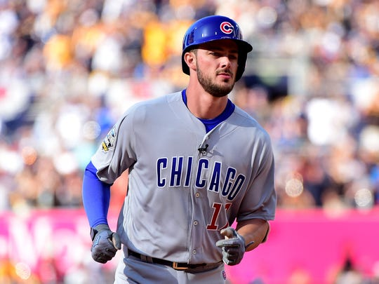 Kris Bryant of the Chicago Cubs and the National League rounds the bases after he hits a home run in the first inning during the 87th Annual MLB All-Star Game at PETCO Park on Tuesday.