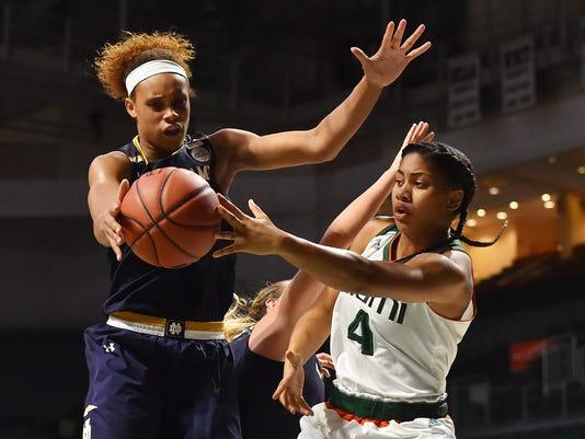 NCAA Womens Basketball: Notre Dame at Miami