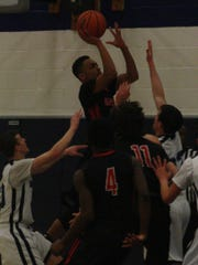Canton's Chris English releases a soft jumper.
