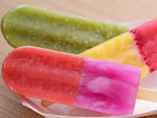 The fresh fruit paletas from AZ Pops are a dessert