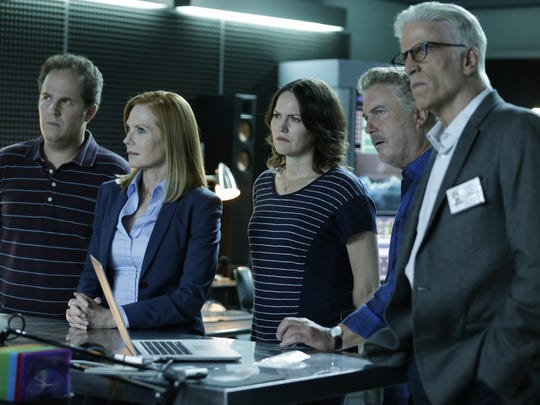 Recent 'CSI' addition Ted Danson, right, joins with
