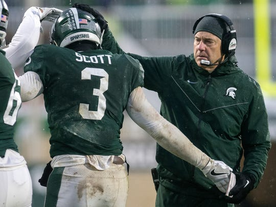 MSU coach Mark Dantonio was surprised and impressed by the decisiveness in which LJ Scott decided to return for his senior season after the Spartans' bowl game.