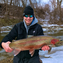 Andy Johnson of Menomonee Falls, WI with a spring run steelhead that he caught Feb. 5, 2017