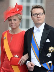 Prince Constantijn of the Netherlands and his wife