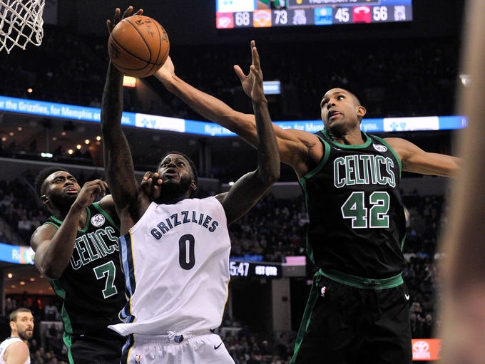 Memphis Grizzlies forward JaMychal Green (0) shoots