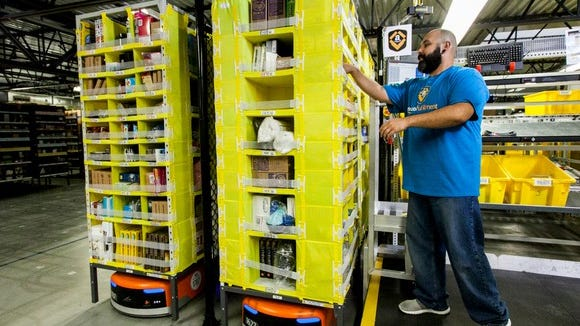 Amazon has warehouses staffed all around the country