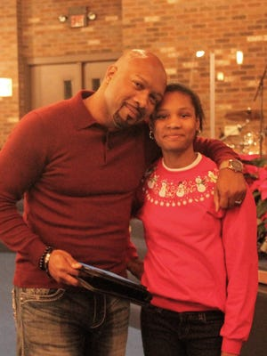 Tony Grant and Andreana Beard, 13 of Livonia. Beard reached out to Grant, a California-based actor who has done work with Tyler Perry, and requested he act in her play. He accepted and will take the stage this weekend at the Charles H. Wright Museum of African American History in Detroit.