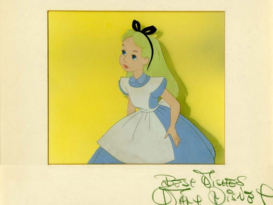 "An ""Alice in Wonderland"" animation cel is part of an"