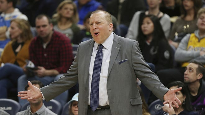 Tom Thibodeau is reportedly in talks to become the next coach of the New York Knicks.
