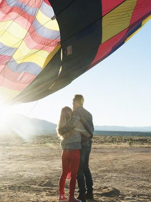 """THE BACHELOR - """"Episode 1905"""" - The next day, Chris sneaks into Britt's hotel room in the early morning hours and whisks her away on one of the most romantic dates of the season: a hot air balloon ride as the sun rises. Part two of the couple's passionate date might put this woman's way ahead of the group. Too bad the other bachelorettes don't think she is being truthful about her intentions on """"The Bachelor."""""""