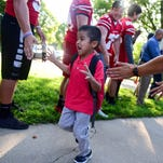 28 photos: King Elementary's first day high-five line