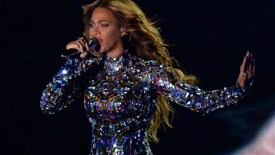 Beyonce performs on stage at the MTV Video Music Awards