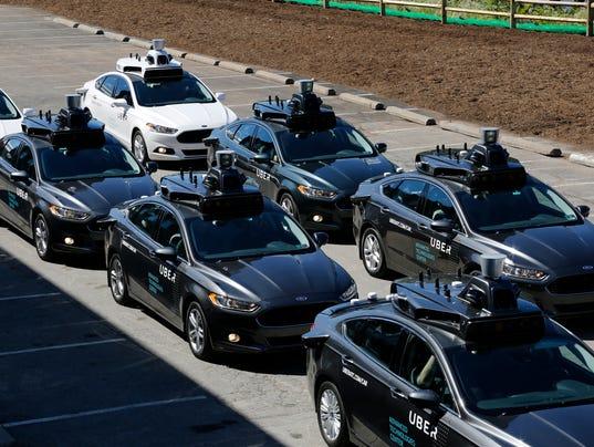 AP UBER AUTONOMUS CARS A USA PA