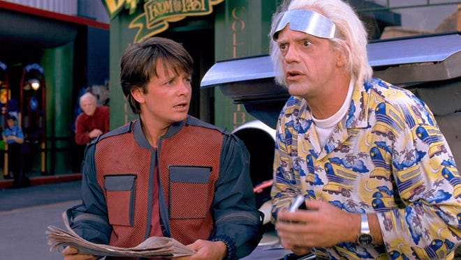 """Michael J. Fox and Christopher Lloyd starred in all three """"Back to the Future"""" films. In the second film, the pair traveled from the 1980s to Oct. 21, 2015."""
