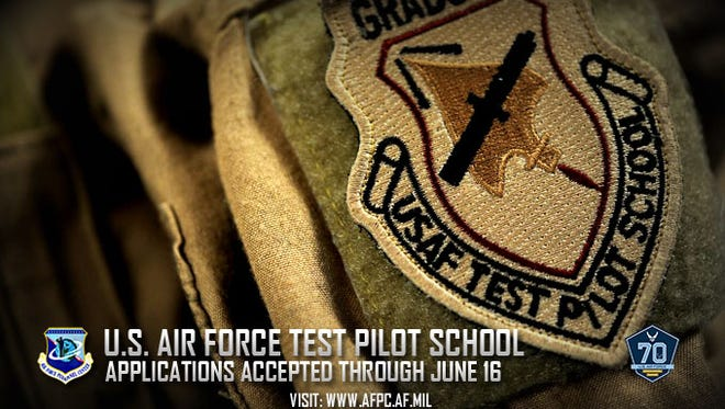 The U.S. Air Force Test Pilot School selection board is accepting applications from interested total force officers and civilians. Rated officers and acquisition engineers are highly encouraged to apply. Applications are due by June 16, 2017.