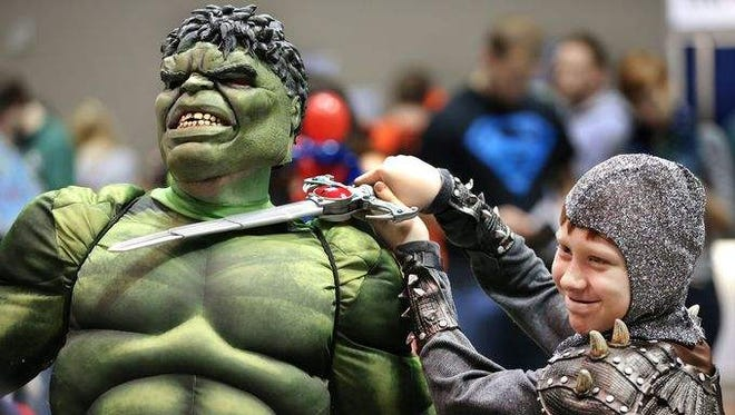 Indy's first Comic Con sold out Saturday. Thousands streamed through the doors of the Indiana Convention Center.