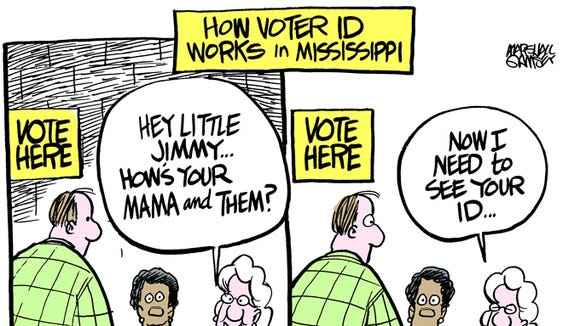 Voter ID comes to Mississippi.