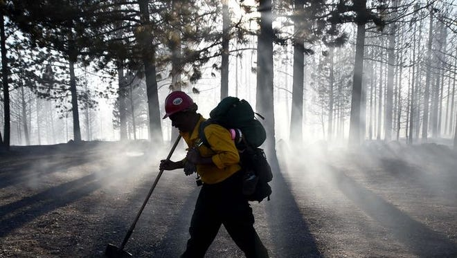 Smoke in the Reno area on Tuesday was from wildfires in Northern California and Oregon.