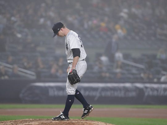 New York Yankees pitcher Sonny Gray steps back up on