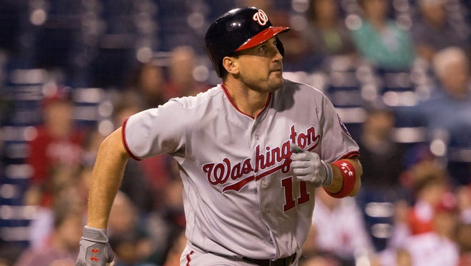 Ryan Zimmerman leads the majors with a .410 batting average.