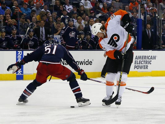 NHL: Philadelphia Flyers at Columbus Blue Jackets