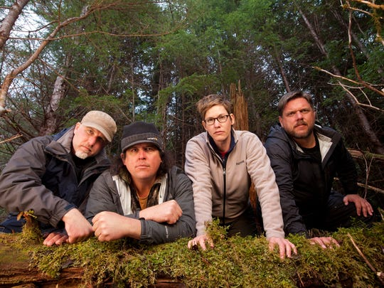 "Animal Planet's ""Finding Bigfoot"" team, (from left) Cliff Barackman, James ""Bobo"" Fay, Ranae Holland, and Matt Moneymaker."