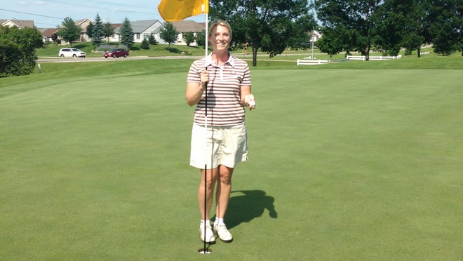 Liz Wilson of Ankeny sank a hole in one on the par-3 No. 10 hole at Briarwood Golf Course in Ankeny. The double eagle, or albatross, is among the rarest achievements in the sport.