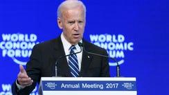 Vice PresidentJoe Biden addresses the assembly on the