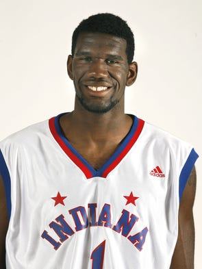 Lawrence North High School senior Greg Oden is the 2006 winner of the Indianapolis Star Indiana Mr. Basketball award. Here we photograph Oden atop the Indy Star building on Thursday afternoon, April 13, 2006.