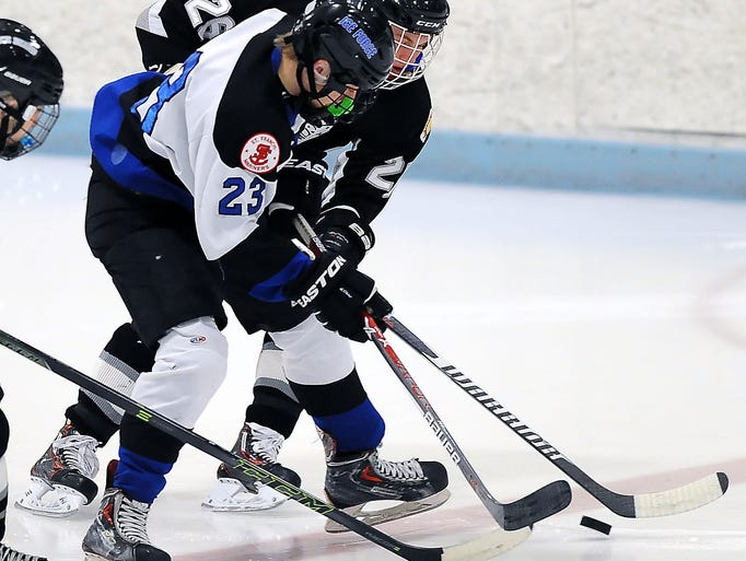 Greendale Ice Force forward Bailey Beierle, second