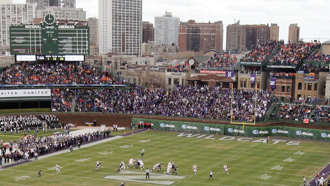 Illinois and Northwestern played a football game at Wrigley Field on Nov. 20, 2010.