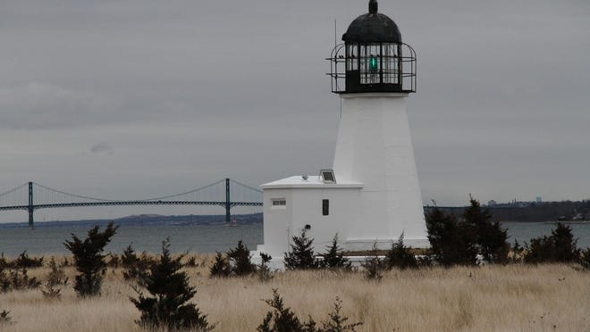 Prudence Island Light, also known as Sandy Point Lighthouse by locals, shown in January 2014. The Coast Guard is making the historic light available.