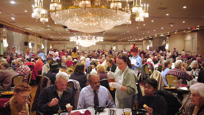 The annual Thanksgiving Day meal at Lombardo's in Randolph. The Patriot Ledger file photo