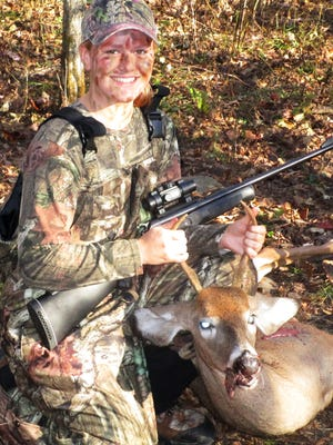 Marcella Benjamin, of Chemung, shot this buck during the Columbus Day youth hunting weekend.