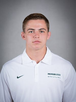 Michigan State wrestler Drew Hughes was named the Big Ten Wrestler of the Week.