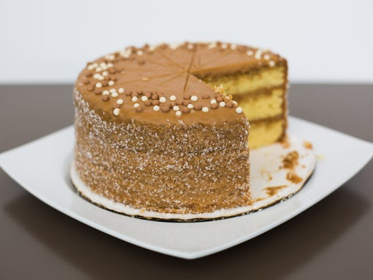 Caramel Cake at Wiltshire on the Speed Cafe. June 15,