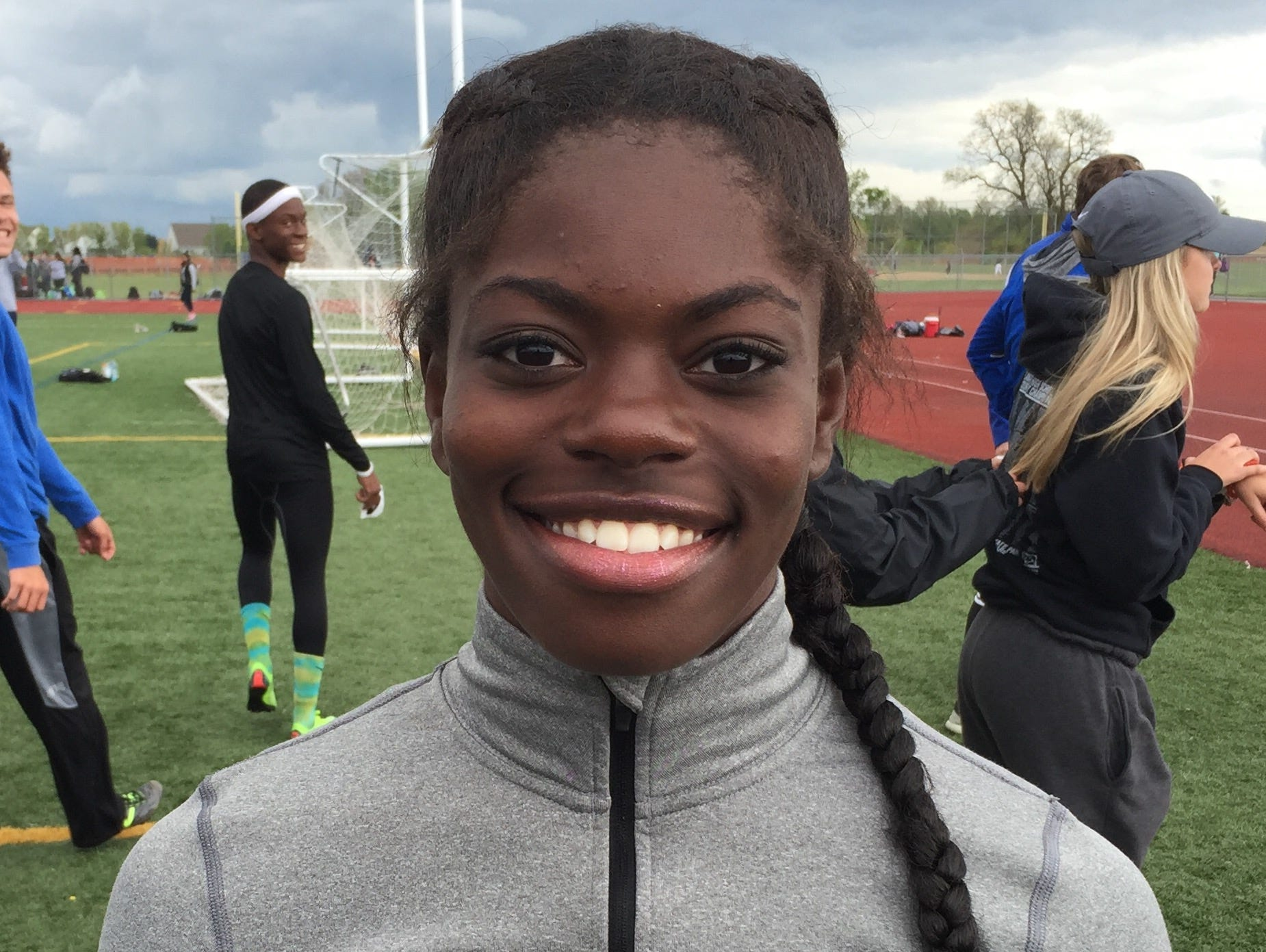 Middletown's Daija Lampkin lowered the girls 200-meter state record to 23.75 seconds on Saturday at the Blue Hen Conference track and field championships.