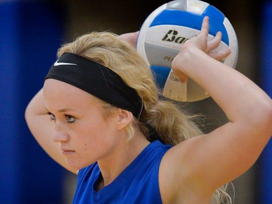 Foley senior volleyball setter Riley Johnson, photographed