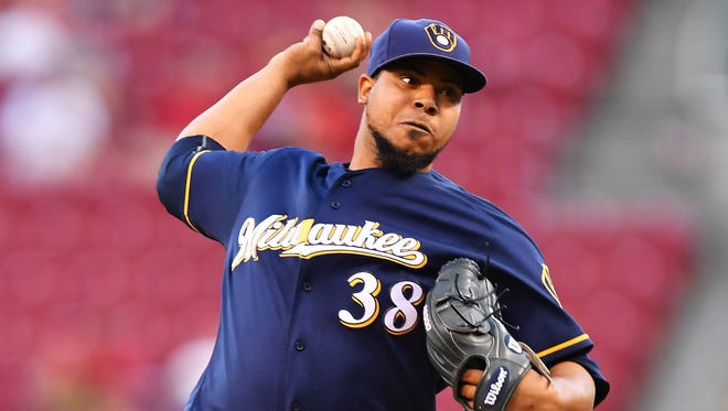 Wily Peralta gets the start Sunday for the Brewers' 2016 home finale.
