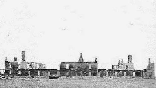 In 1954, fire claimed these barracks where the boy had encountered the ghost of an old soldier, turning pages in the quartermaster's ledger.